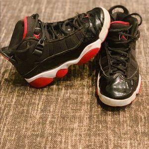 "Jordan 6 Rings ""Black/Varsity Red"" Basketball Shoe"